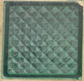 Glass brick green colour Royalty Free Stock Image