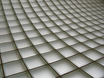 Glass Brick Wall. Curved glass brick wall Stock Photo