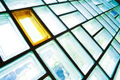 Glass brick wall Stock Photography
