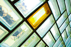 Glass brick wall Royalty Free Stock Images