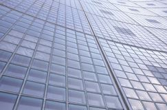 Glass brick wall pattern exterior of a tall building Royalty Free Stock Image