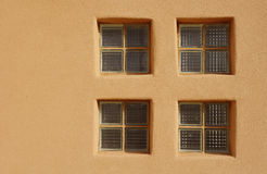 Glass brick window in wall Royalty Free Stock Photos