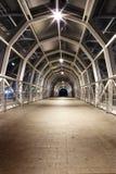 Glass bridge. With night lighting Stock Image