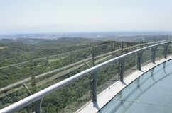 Glass bridge in Sataplia nature reserve, Georgia Stock Photo