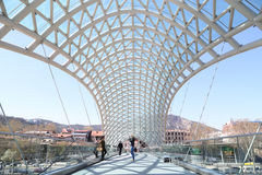 The glass bridge in Tbilisi Stock Photography
