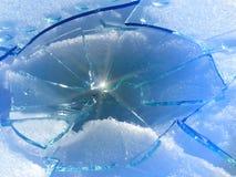 Glass   broken Stock Image