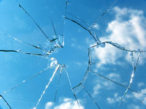 Glass  broken Stock Images
