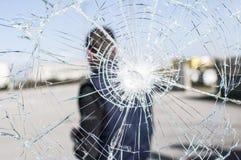 Glass broken Stock Photography