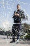 Glass broken Stock Photo