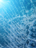 Glass the broken automobile Stock Photo