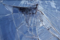 Glass  broken   car   wheel Royalty Free Stock Photos