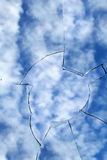 Glass  broken  cracks  splinters Royalty Free Stock Photos