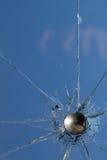 Glass  broken  cracks  splinters Stock Image