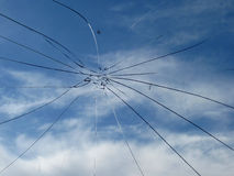 Glass broken cracks splinters Stock Photography