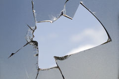 Glass  broken  screen  television  sky Royalty Free Stock Image