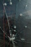 Glass broken in window Royalty Free Stock Photos