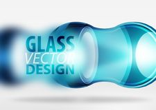 glass bubbladesign för techno 3d Arkivbild