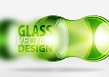glass bubbladesign för techno 3d Arkivbilder