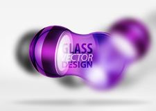 glass bubbladesign för techno 3d Arkivfoto