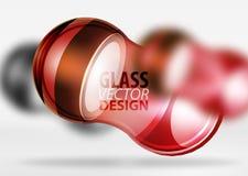 glass bubbladesign för techno 3d Vektor Illustrationer