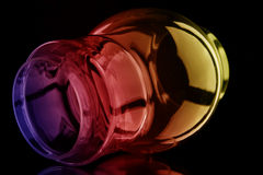 Glass bubble. The glass bubble isolated on a black background Stock Images