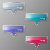 Glass bubble speech set. Vector illustration. Stock Images