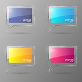 Glass bubble speech set. Vector illustration. Royalty Free Stock Image