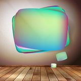Glass bubble speech on wooden background. EPS 10 Stock Images