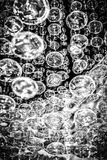 Glass Bubbles. Abstract picture of hanging glass bubbles stock images