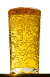 Glass with bubbles in beer Stock Image