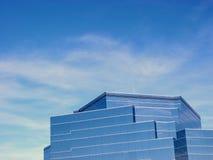 Glass Building. Modern glass building blue sky background Stock Photos