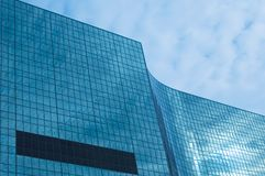 Glass building. Fragment of an office building Stock Photo