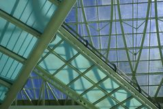Glass building. Interior building structure and concept view Royalty Free Stock Image