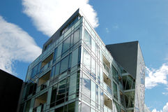 Glass Building. Detail of contemporary glass building Royalty Free Stock Photo