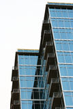 Glass Building. A newly builty glass building in a downtown area Stock Images