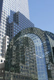 Glass building. Big glass building royalty free stock image