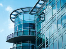 Glass Building. Reflecting Blue Sky Stock Image