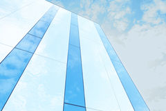 Glass building against the sky Stock Images
