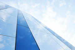 Glass building against the sky Royalty Free Stock Image