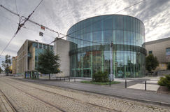 Glass building auditorium of the Academy of Music in Poznan. Stock Photography