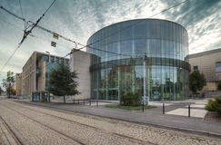 Glass building auditorium of the Academy of Music in Poznan Stock Photo