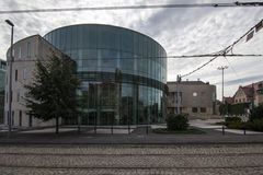 Glass building auditorium of the Academy of Music in Poznan Stock Photos