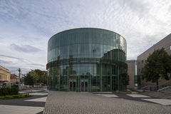 Glass building auditorium of the Academy of Music in Poznan Royalty Free Stock Photography