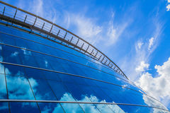 Glass building (business center) Stock Images