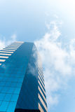 Glass building and Cloud Stock Photo