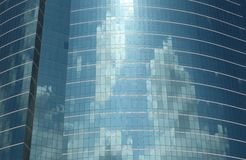 Glass building cloud reflection Royalty Free Stock Images