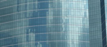 Glass building cloud reflection Royalty Free Stock Photos
