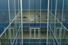 Glass building. With a courtyard Stock Image