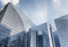 Glass building with dramatic sky Royalty Free Stock Photo