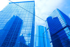 Glass building in hong kong Stock Images